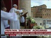 Papa'nın soykırım açıklaması dış basında