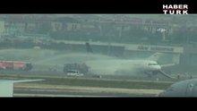 THY uçağındaki yolcular böyle tahliye edildi