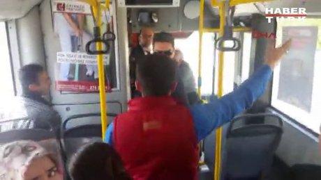 Belediye otobüsünde gergin anlar