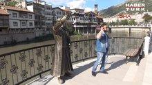 Amasya'da Selfie çeken şehzade şaşırttı
