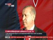 Cumhurbaşkanı Erdoğan'ın konuşması sırasında ilginç anlar