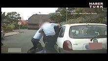 Alman polisi bir Türk'e böyle şiddet uyguladı!