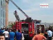 Beylikdüzü'nde terlik fabrikasında yangın