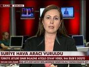 Suriye uçağı vuruldu!