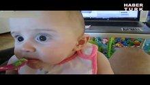 İlk kez avokado yedi!