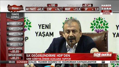 Sırrı Süreyya Önder'den ilk açıklama