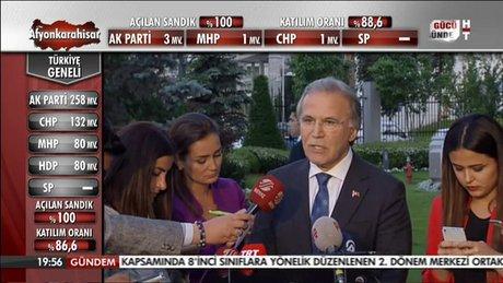 Mehmet Ali Şahin: Sorumlu davranacağız