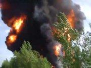 Ukrayna'da petrol rafinesinde dev yangın!