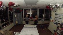 Hastanede nişanlandılar!