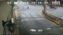 Emekli albaya saldırı kamerada