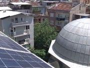 Cami'ye güneş paneli