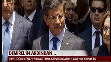 Davutoğlu'dan Taziye ziyareti