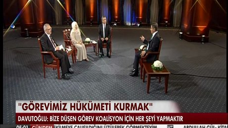 Davutoğlu'dan koalisyon