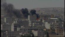 Kobani'deki patlamalar