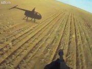 Helikopterle domuz avı