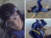 Kriz geçiren paraşütçü ölümden döndü