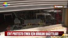 ÇİN'İ PROTESTO İÇİN UYGUR TÜRK'ÜNÜ DÖVDÜLER!
