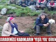 """Karadenizli kadınların """"Yeşil Yol"""" direnişi"""