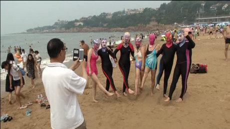Plajlarda yüz bikinisi