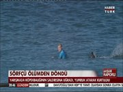 Sörfçü Mick Fanning'e köpek balığı saldırdı