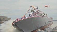 Dev savaş gemisi suya indirildi