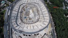 Vodafone Arena'nın çatısı hazır