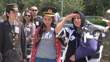 Jandarma Binbaşı için askeri tören