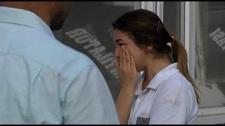 Şehidin eşi hem ağladı hem ağlattı