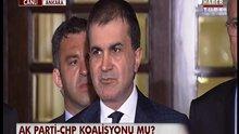 Koalisyon görüşmeleri sonrası Ömer Çelik'in açıklamaları