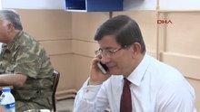 Davutoğlu asker annesi ile konuştu