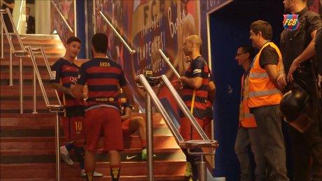 Arda, Messi'yi gülme krizine soktu