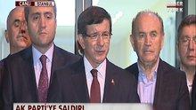 Başbakan Davutoğlu'ndan saldırıyla ilgili açıklama