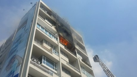 Mecidiyeköy'de yangın