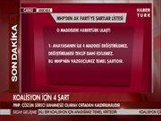 MHP'den koalisyon için 4 şart