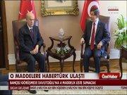 MHP'nin koalisyon teklifi için maddeleri