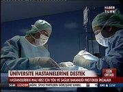 Üniversite hastanelerine destek