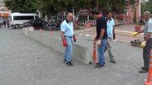 Iğdır'da polis karakollarına beton bariyerli önlem