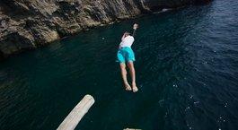 İtalya'nın kıyılarından adrenalin dolu anlar