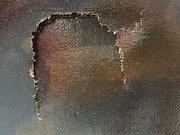 1.5 milyon dolarlık tablonun üzerinde delik açtı