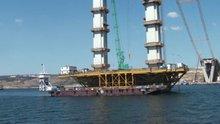 Körfez köprüsünün yapım çalışmaları