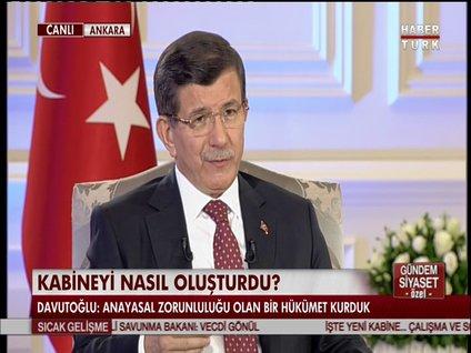 BAŞBAKAN AHMET DAVUTOĞLU HABERTÜRK'TE - 1