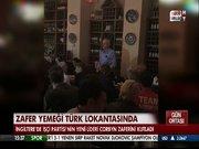 Zafer yemeği Türk lokantasında