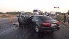 Otomobiller virajda çarpıştı: 1 ölü