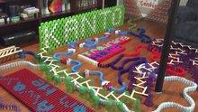 12,000 bin domino taşıyla muhteşem şov