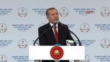 Cumhurbaşkanı Erdoğan, okul açılışında