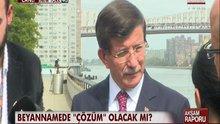 Ahmet Davutoğlu New York'ta gazetecilerin sorularını yanıtladı