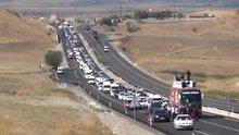 Bağımsız adaydan 15 kilometrelik konvoy