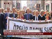 Ahmet Hakan'a saldırı protestosu