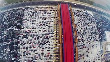 50 Şeritli yolda trafik
