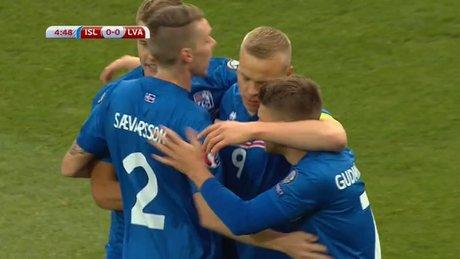 İzlanda'dan ilk gol ses geldi